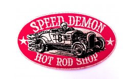 Patch Speed Demon Hot Rod Shop 6 Flicken Aufnäher Aufbügeln Bügelbild 6